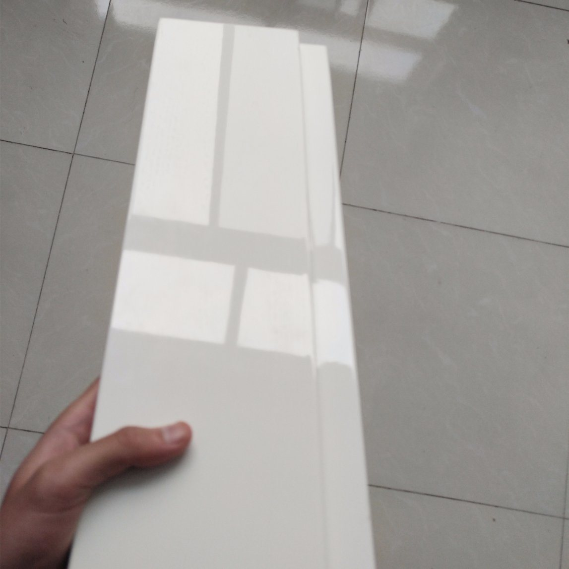 Modern High Gloss White Paint Kitchen Cabinet Door