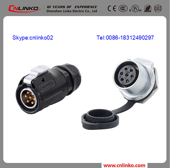 China 7 Pin Trailer Wire End AC Connectors for Automation Equipment ...