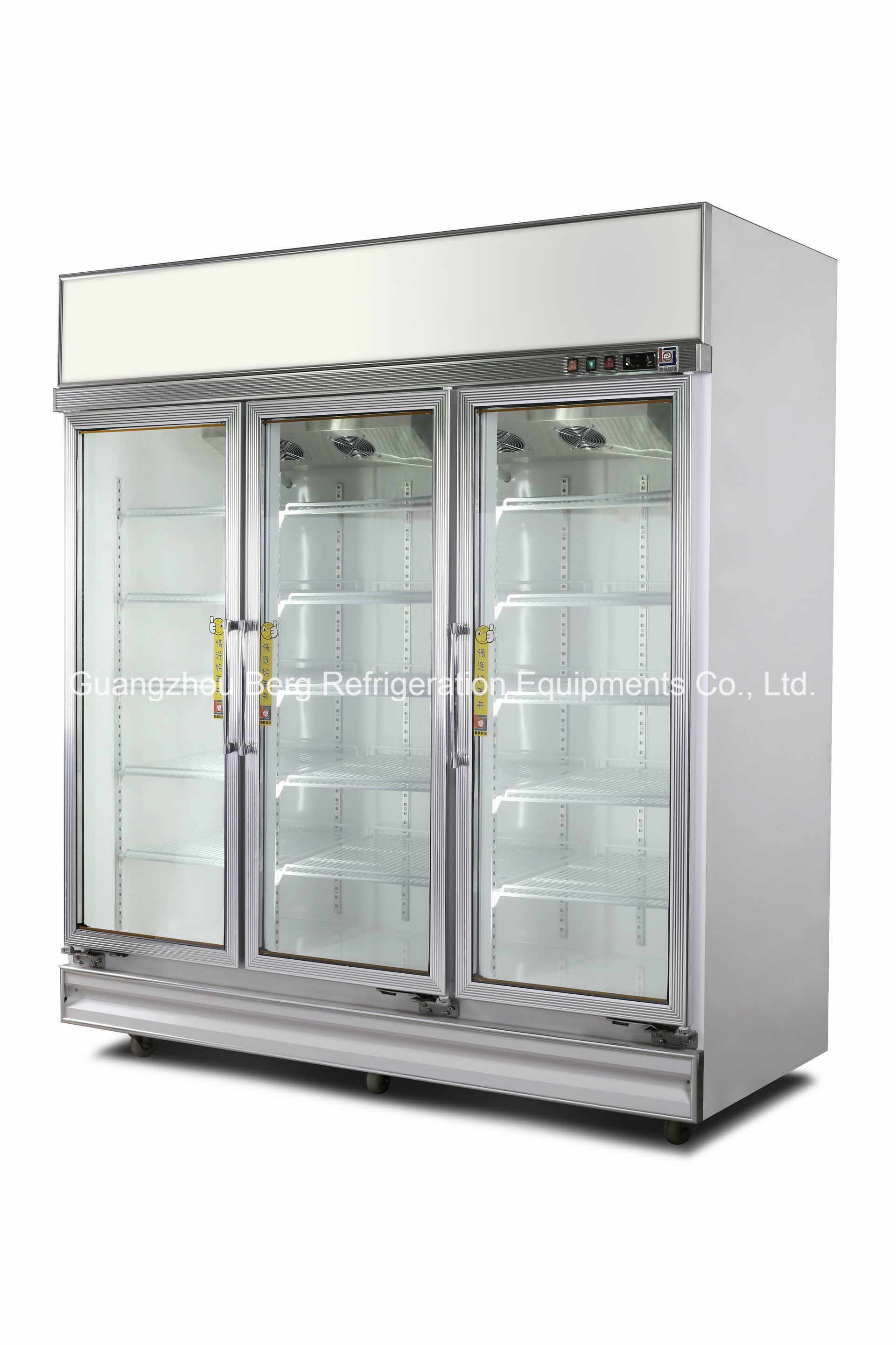 Commercial Two Glass Door Refrigerated Display Cooler for Drinks