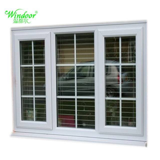China Best Price Grill Design PVC Sliding Window