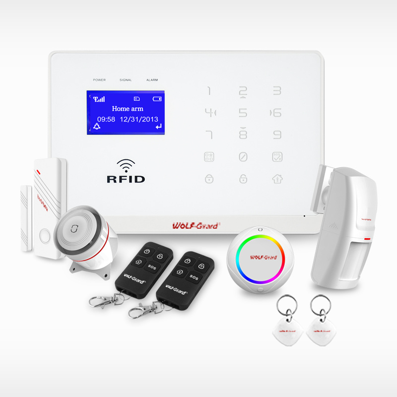 2015 New! Home Automation! APP Control! RFID+Touch Keypad Smart GSM SMS Home Security Alarm System with Alarm Control Keypad
