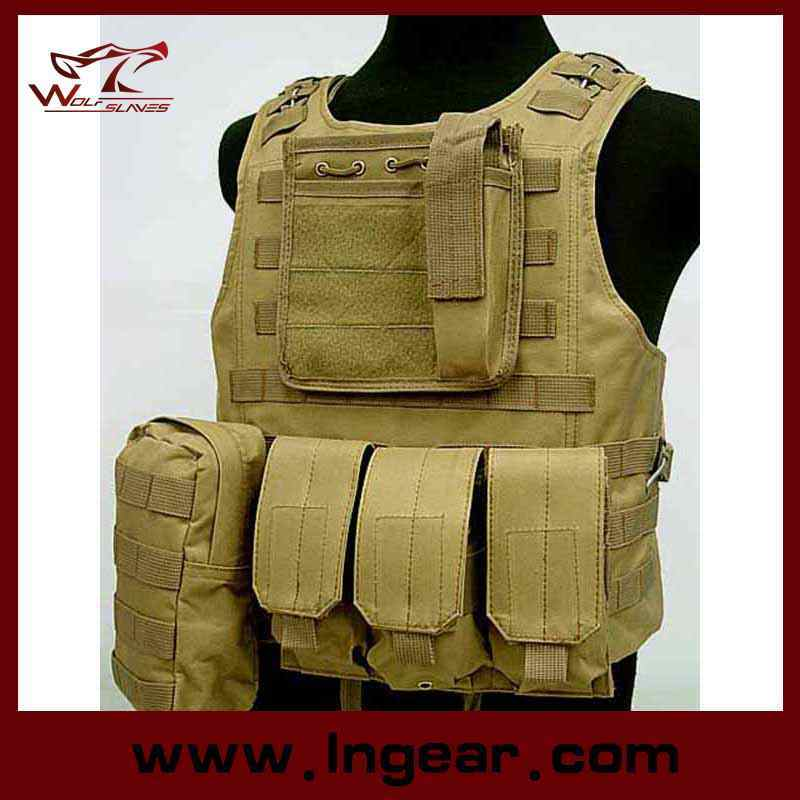 Military Molle Combat Vest Amphibious Tactical Safety Vest Army Uniform