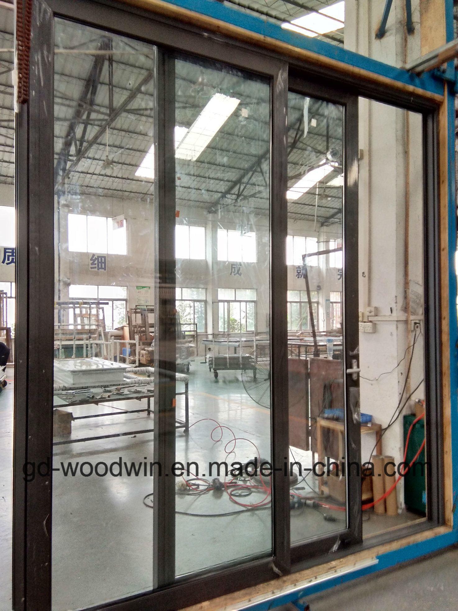 China Series 100 Non Thermal Break Double Glazing Aluminium Sliding