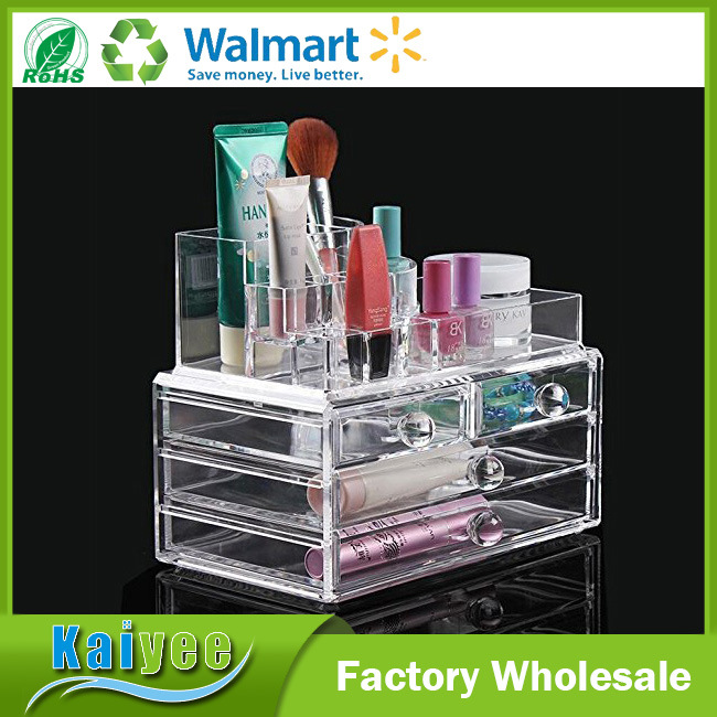 [Hot Item] 4 Drawers Acrylic Makeup Cosmetics Organizer with Top Section
