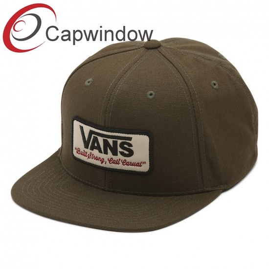 f08920629 [Hot Item] Promotion Canvas Fabric 5 Panel Snapback Hat with Custom Woven  Patch