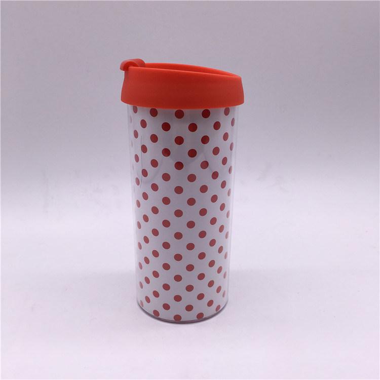 [Hot Item] 450ml PP Plastic Insulated Takeaway Mug Coffee Mug Cup with Lid
