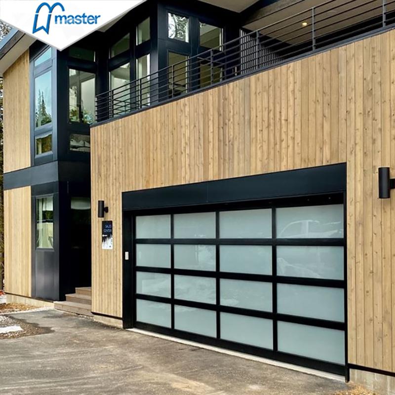 China Aluminum Glass Garage Door Design, Frosted Glass Garage Doors