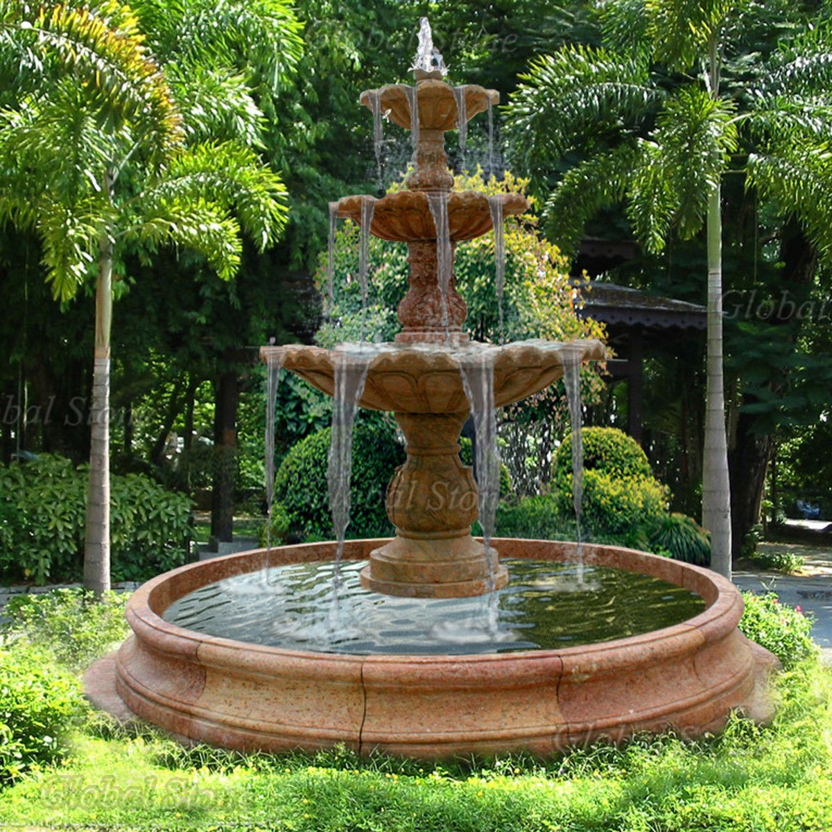 China Granite Marble Outdoor Water Fountain for Garden ...