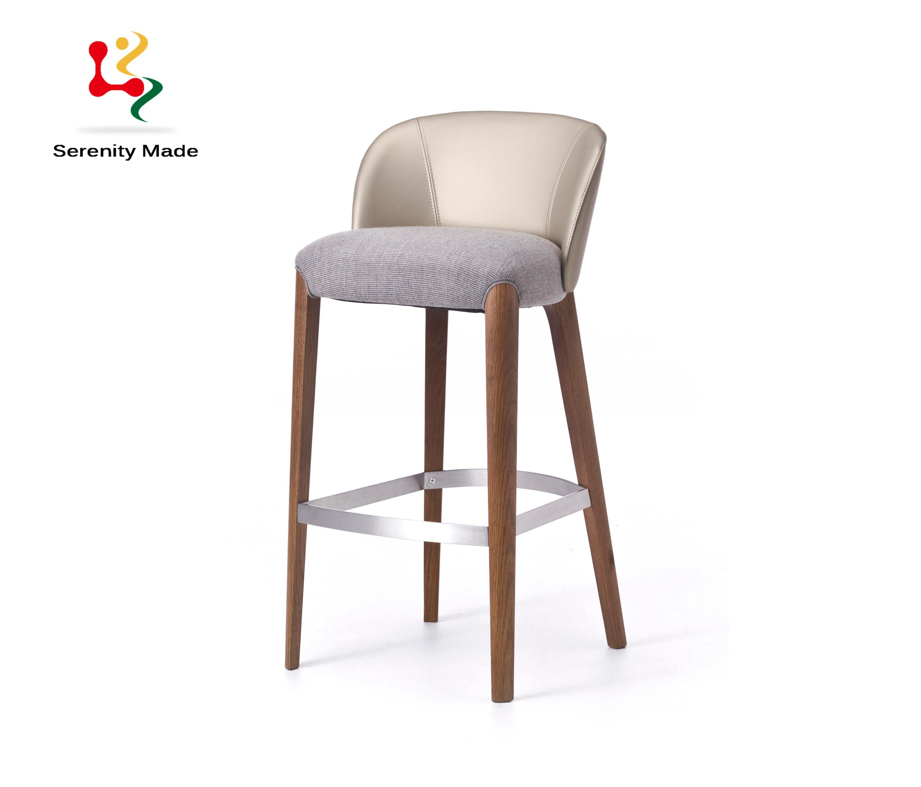 China Modern Bar Chair Upholstered Restaurant Wooden Counter Stool
