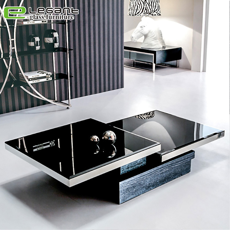 China Modern High Gloss Square White Glass Coffee Table Photos