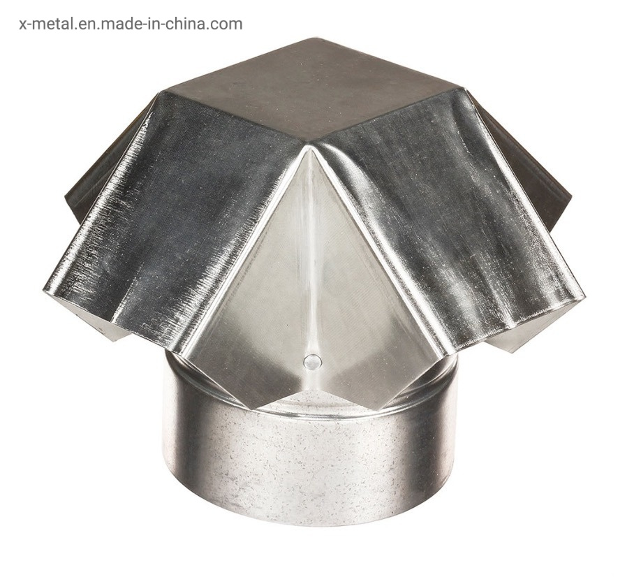 China Round Roof Galvanize Steel Sheet Tube Connector Metal Roof Jack Flashing Vent Cap Jack China Roof Jack Roof Flashing