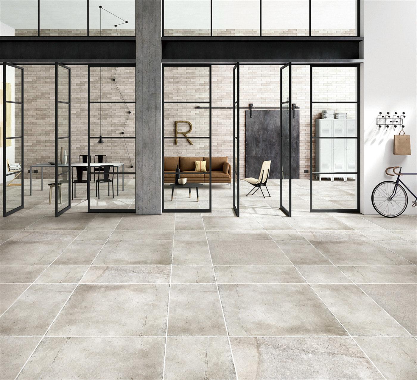 China 24x24 Grey Kitchen Floor Fireproof Glazed Porcelain Tile China Tiles Glazed Tiles