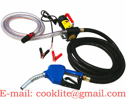 12V/24V Diesel Fuel Transfer Pump Kit / Mini Diesel Fuel Dispenser - 175W 45L/Min