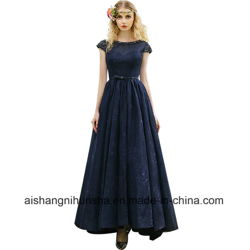 China Evening Dress Lace Beading Elegant Party Gown Custom Formal ...