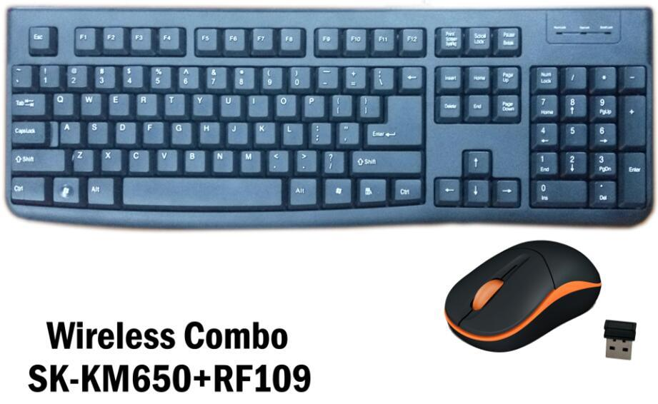 China 2017 New 2.4 GHz Wireless Combo, Keyboard and Mouse,Cheapest ...