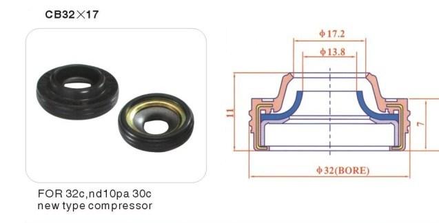 [Hot Item] Auto A/C AC Compressor Shaft Lip Seal for 10PA30c