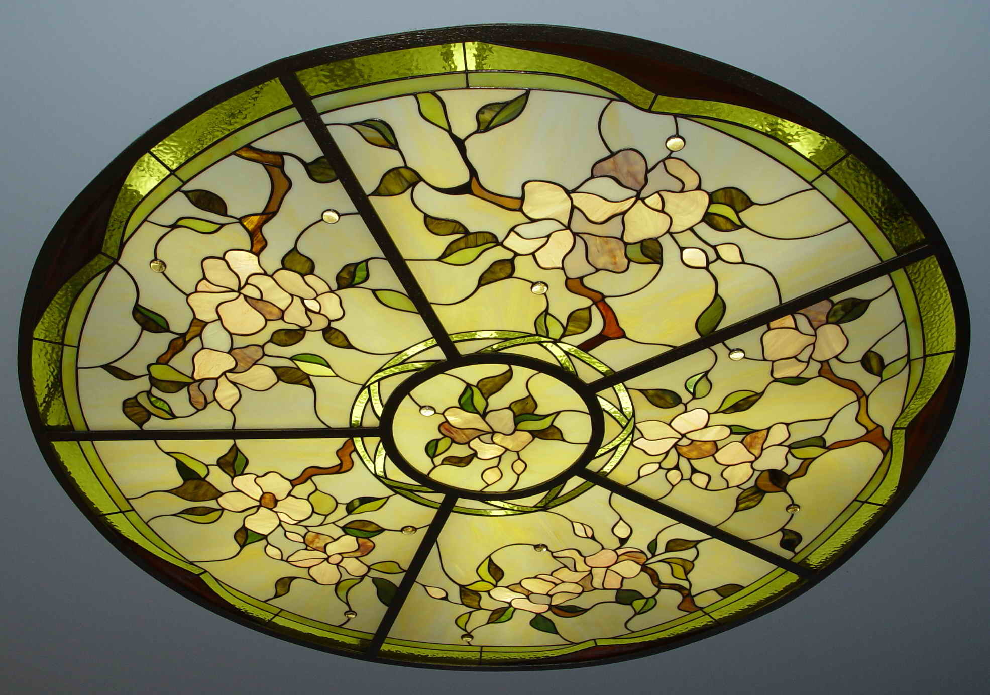 China Art Painting Design Interior Stained Glass Dome Tiffany Lamp ...