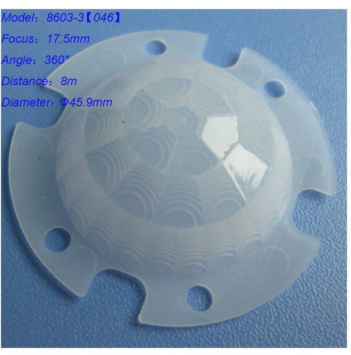 China PIR Sensor Fresnel Lens For Body Purpose
