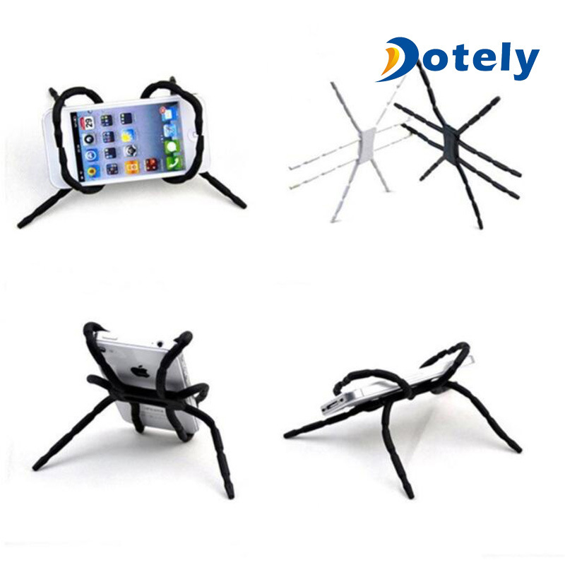 China Funny Bendable Desk Bike Car Spider Cell Phone Holder Stents For Smartphone All Purpose Stand