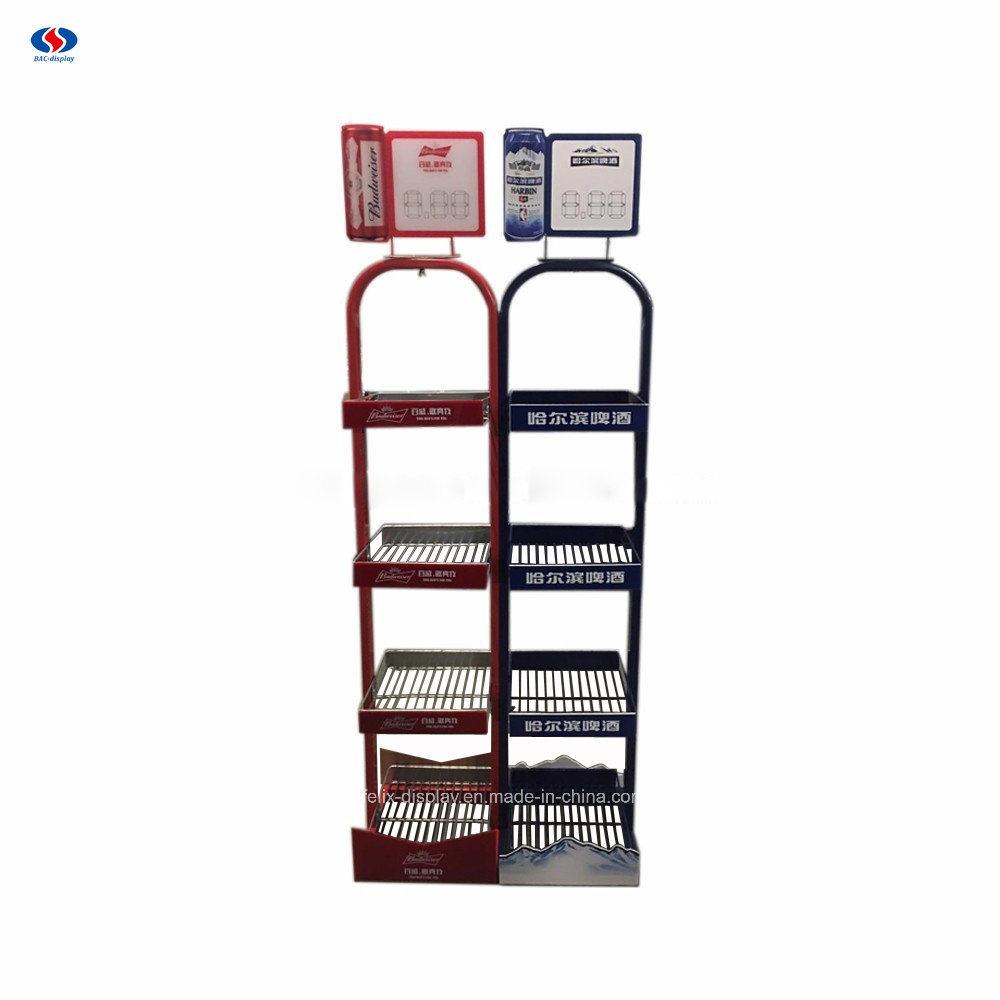 China Customized Metal Wire Display Supermarket Rack - China Display ...