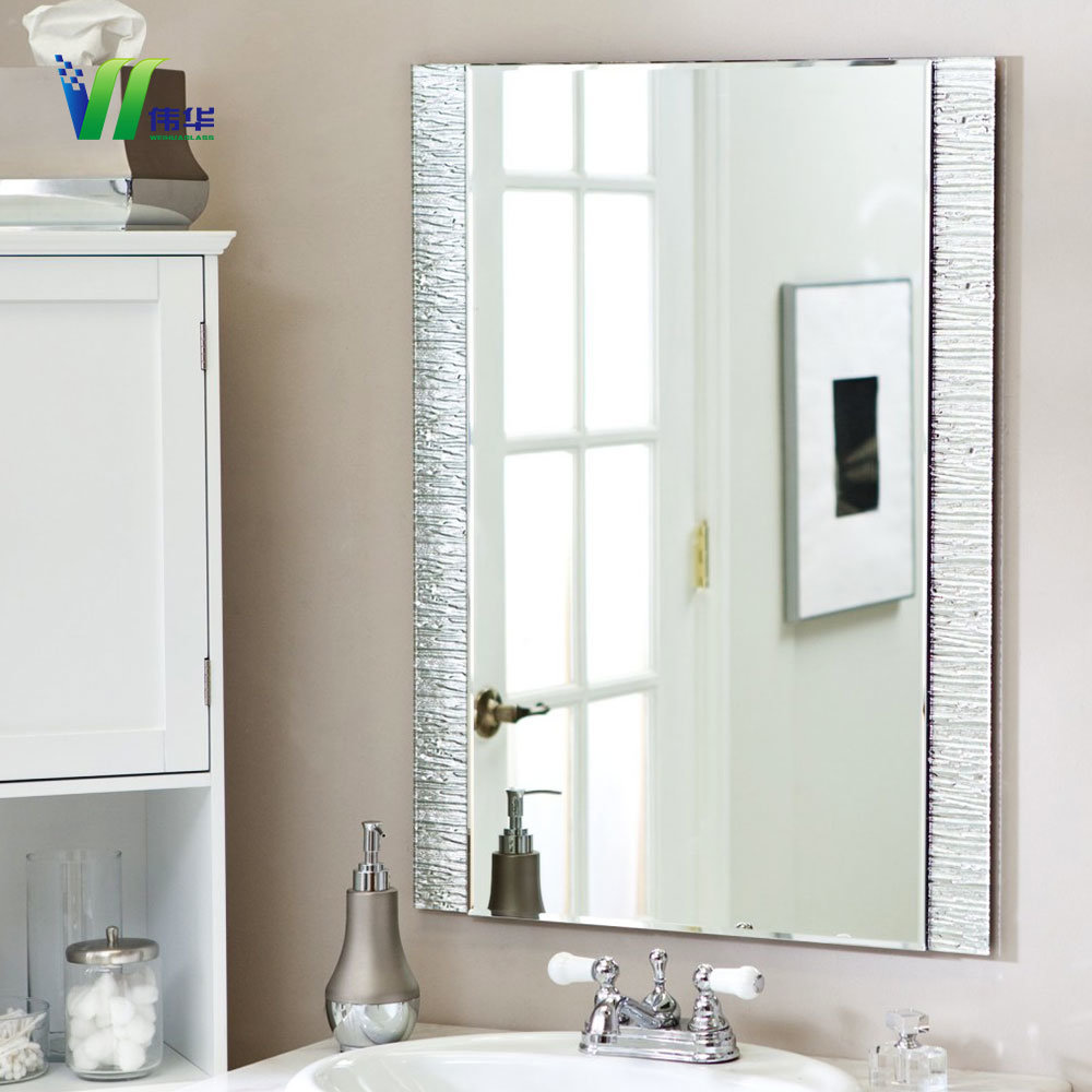 China New Design Customized Silver Bathroom Mirror, Makeup Mirror ...