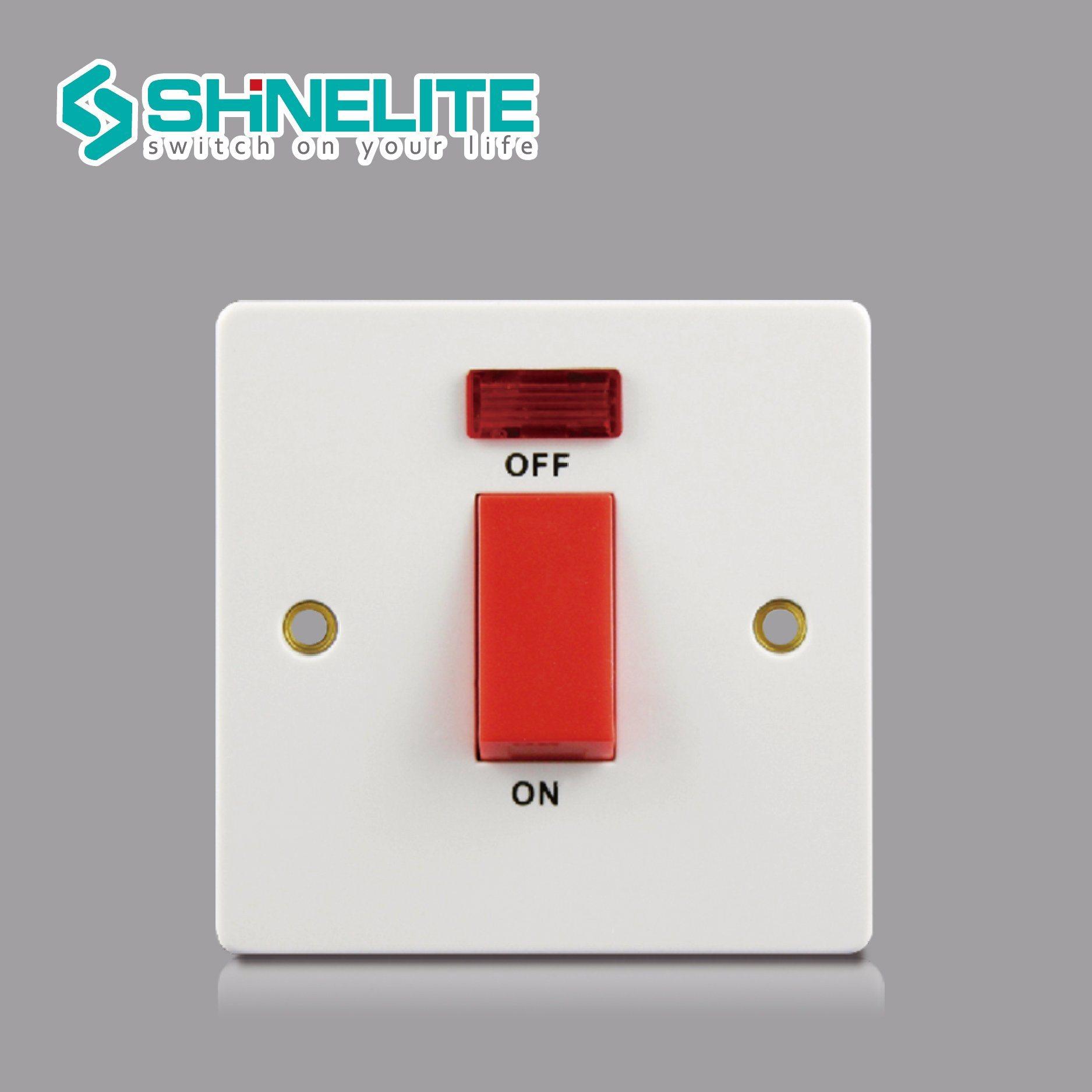 China British Standard 10A 2 Gang 1 Way Electrical Switch Photos ...