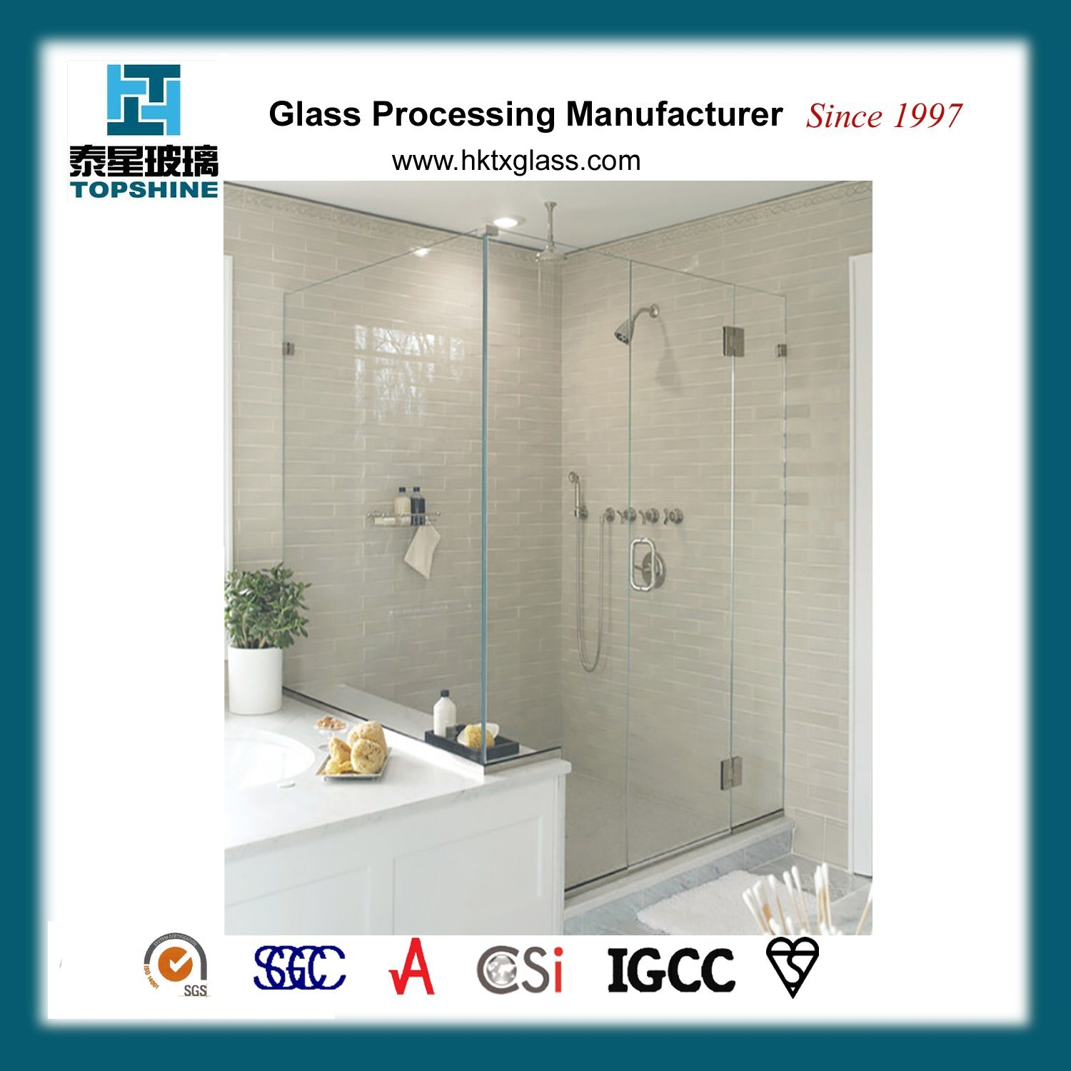 China Framless Glass Shower Doors And Even In Some High End Hotels