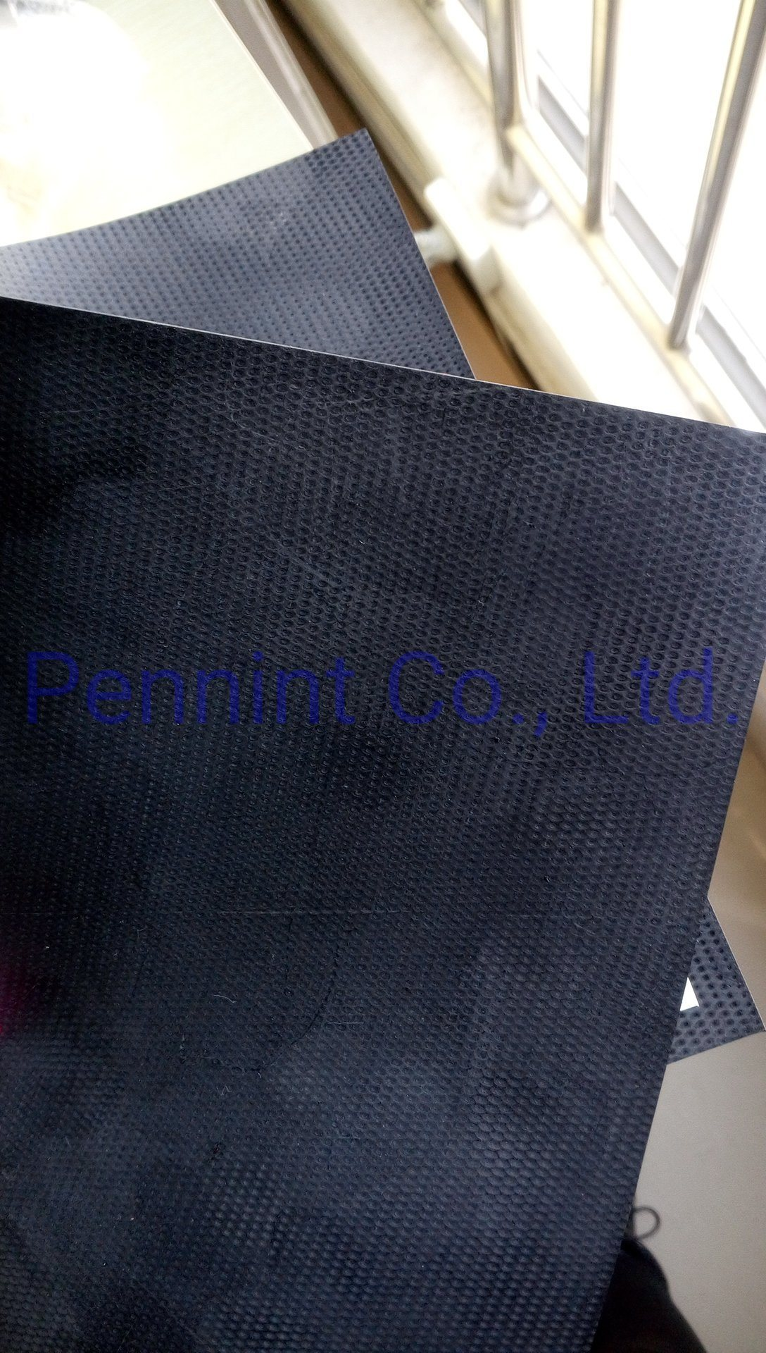 EPDM waterproofing and roofing membrane for PU adhesive