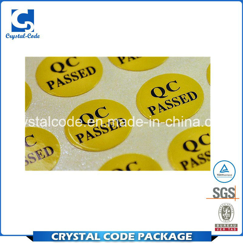 China best sale with high quality qc pass stickers labels china label sticker