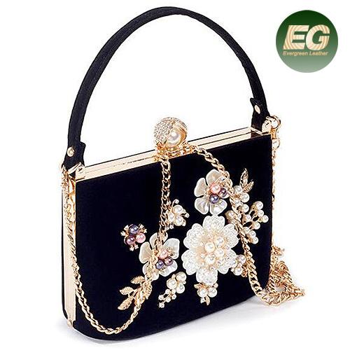 China Lady Evening Bags Fashion Lady Handbag With Pearl Wholesale