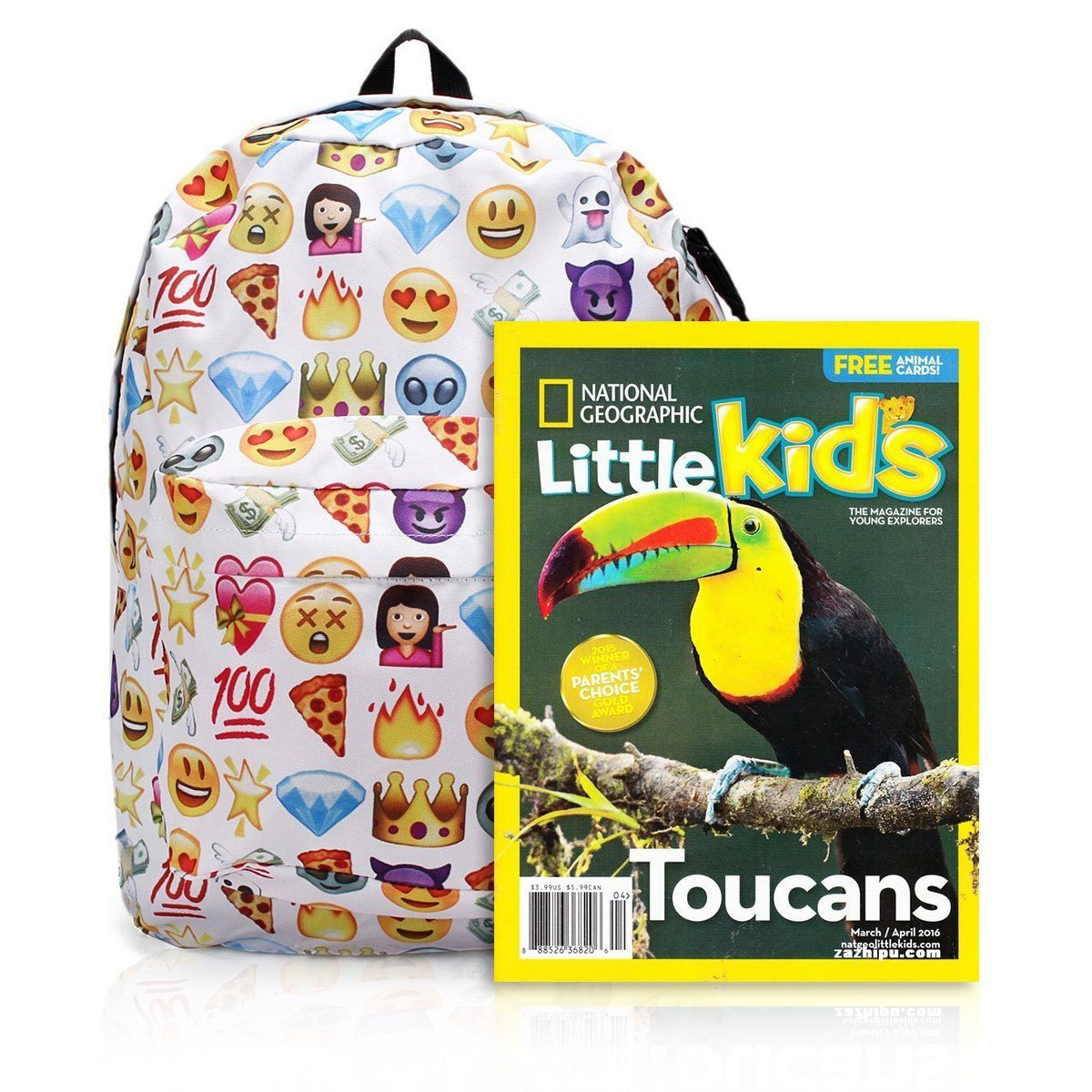 1e2141393d Polyester Shoulder School Book Bags Cute Girls QQ Printing Emoji Backpack