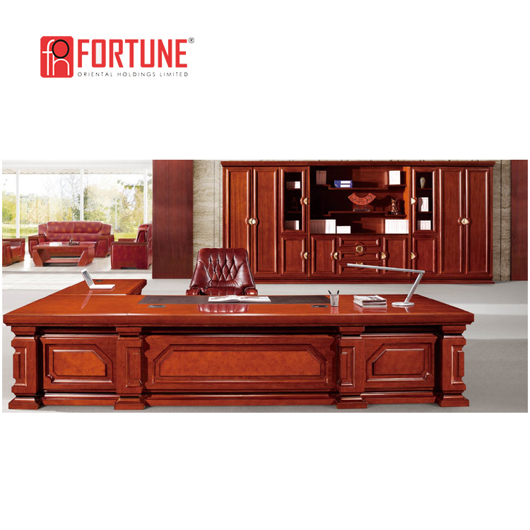 China Classic Office Furniture Executive Wooden Desk For Boss