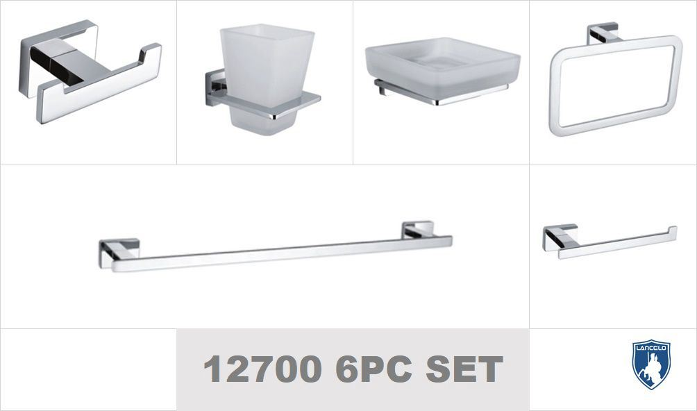 China Commercial Wall Mounted Chrome Towel Rack With Bar Bathroom Accessories 12700 Series Sanitary Ware