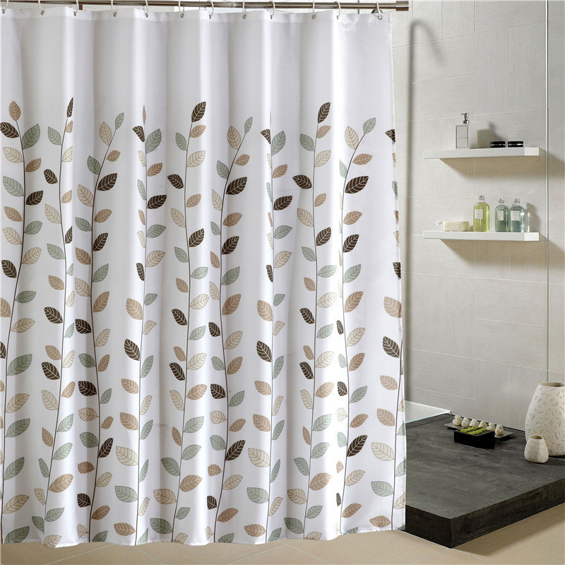 China 100Polyester Waterproof Anti Mildew Bath Curtain With Eyelets 03S0083