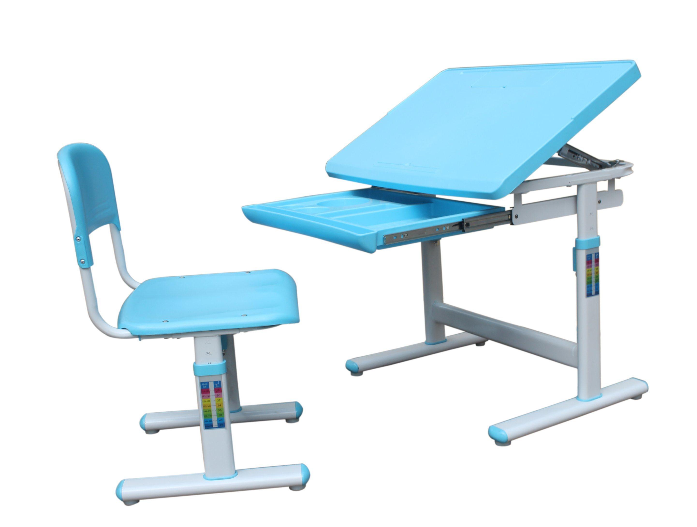 Pratical Education Equipment School Furniture Children Desk Hyd001 Pink And Blue Colors