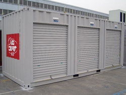 Roll Door Storage Open Side Shipping Container