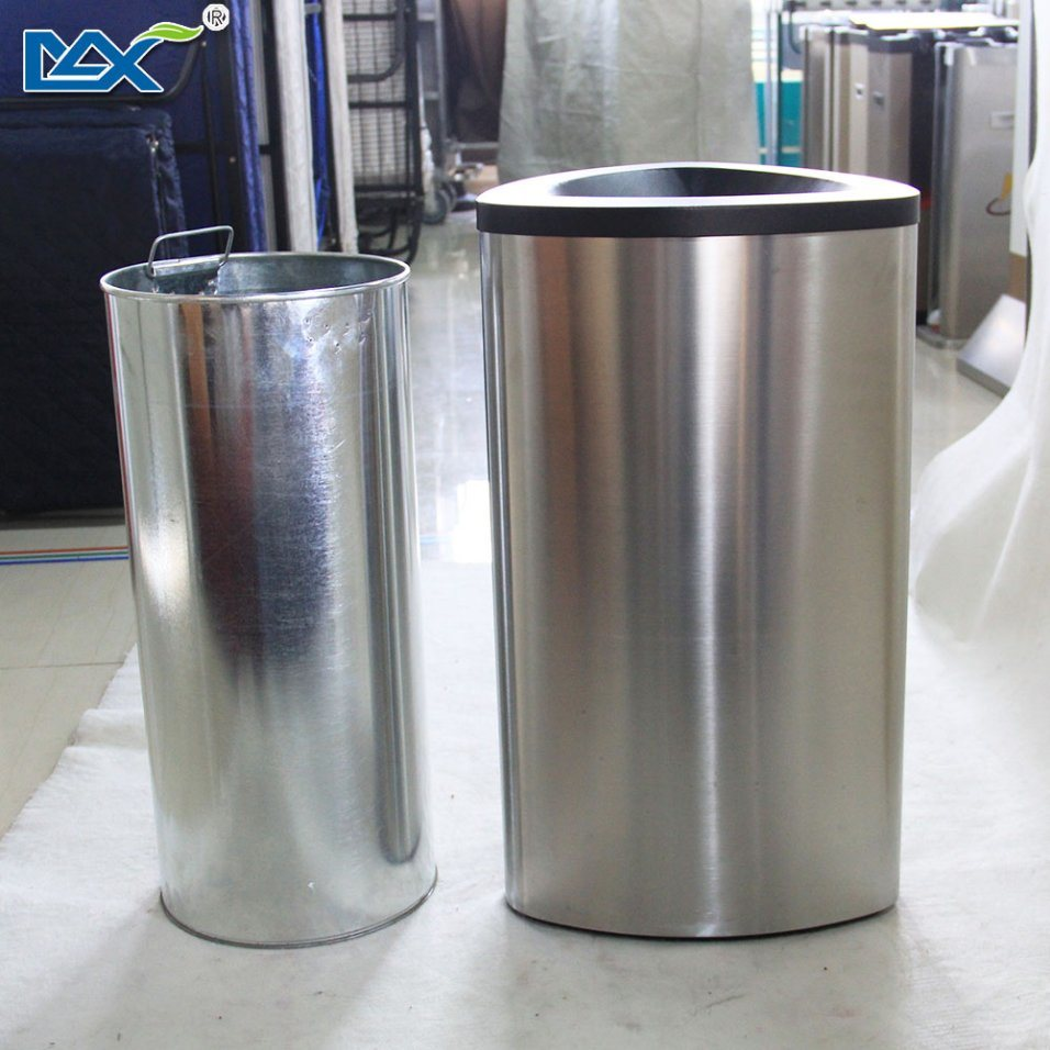 Max New Products 3 Compantment Stainless Steel Recyclable Trash Bin pictures & photos
