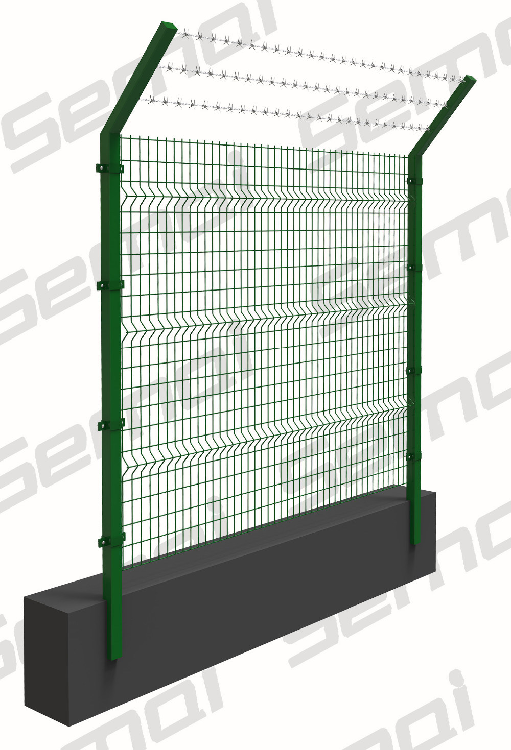 China Powder Coated 3D Curved Welded Wire Mesh Garden Fence - China ...