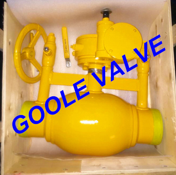 150LB/300LB/600LB/900LB Full Bore Discharging Type Fully Welded Ball Valve (GAQ61PPL) pictures & photos