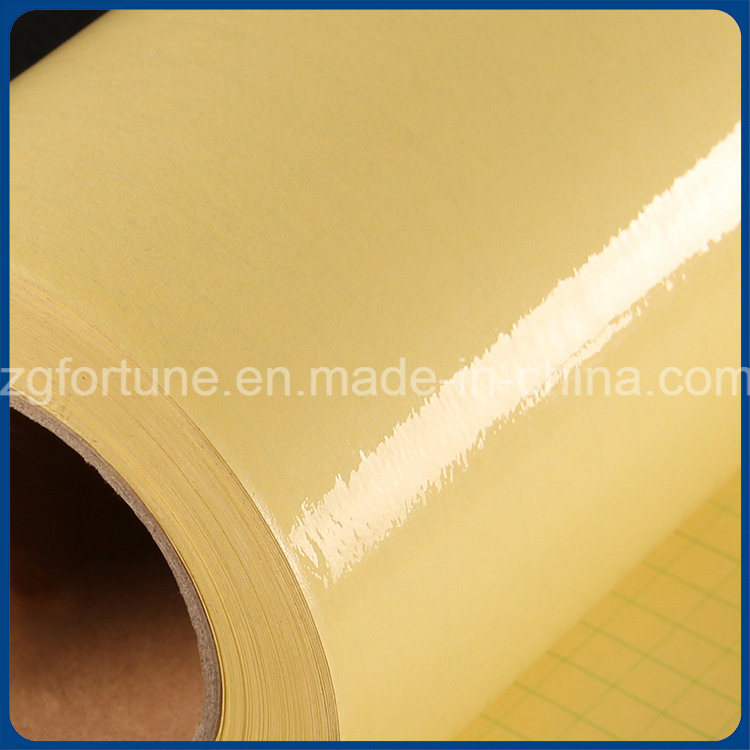 Yellow Back Glossy Cold Laminating PVC Film pictures & photos