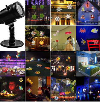 Xmas Multicolor Waterproof Multi Party 14 Slides Pattern Projector Lights