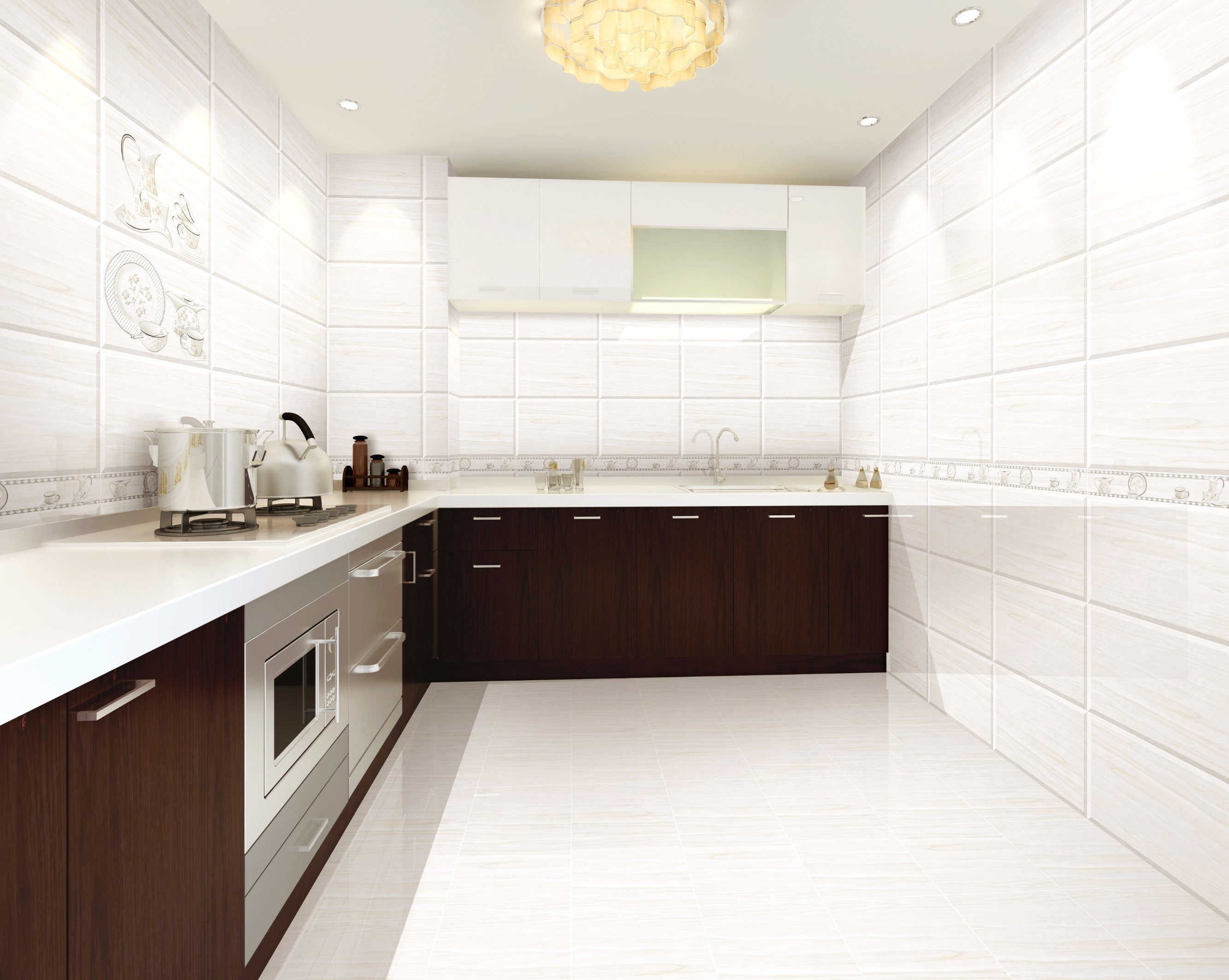 China Simple Pattern Ceramic Tile Use For Bathroom And Kitchen Photos Pictures Made In China Com