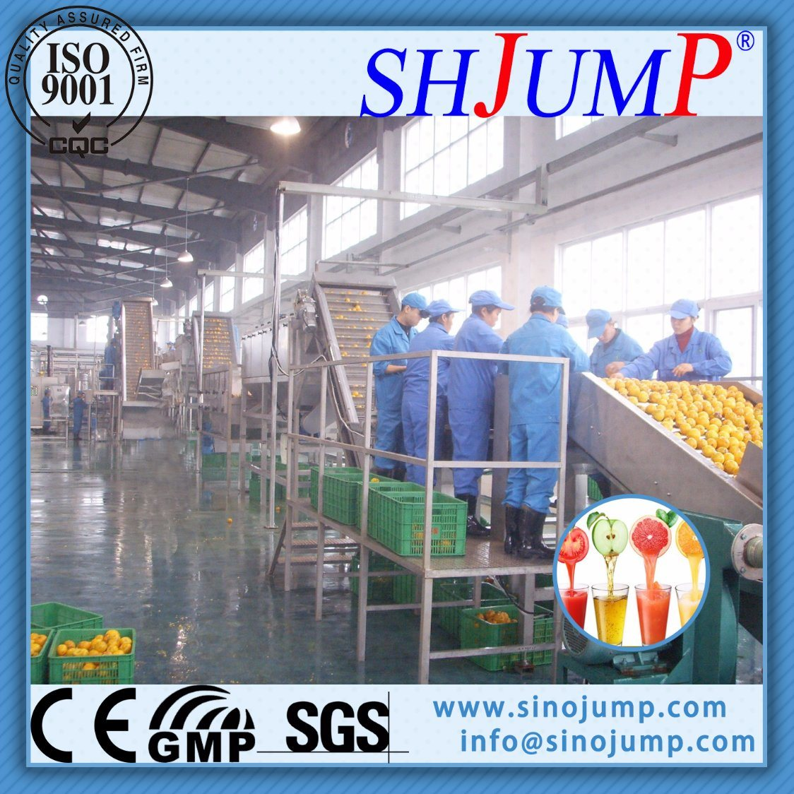 High-Tech Cold Pressed Orange Juice Processing Line