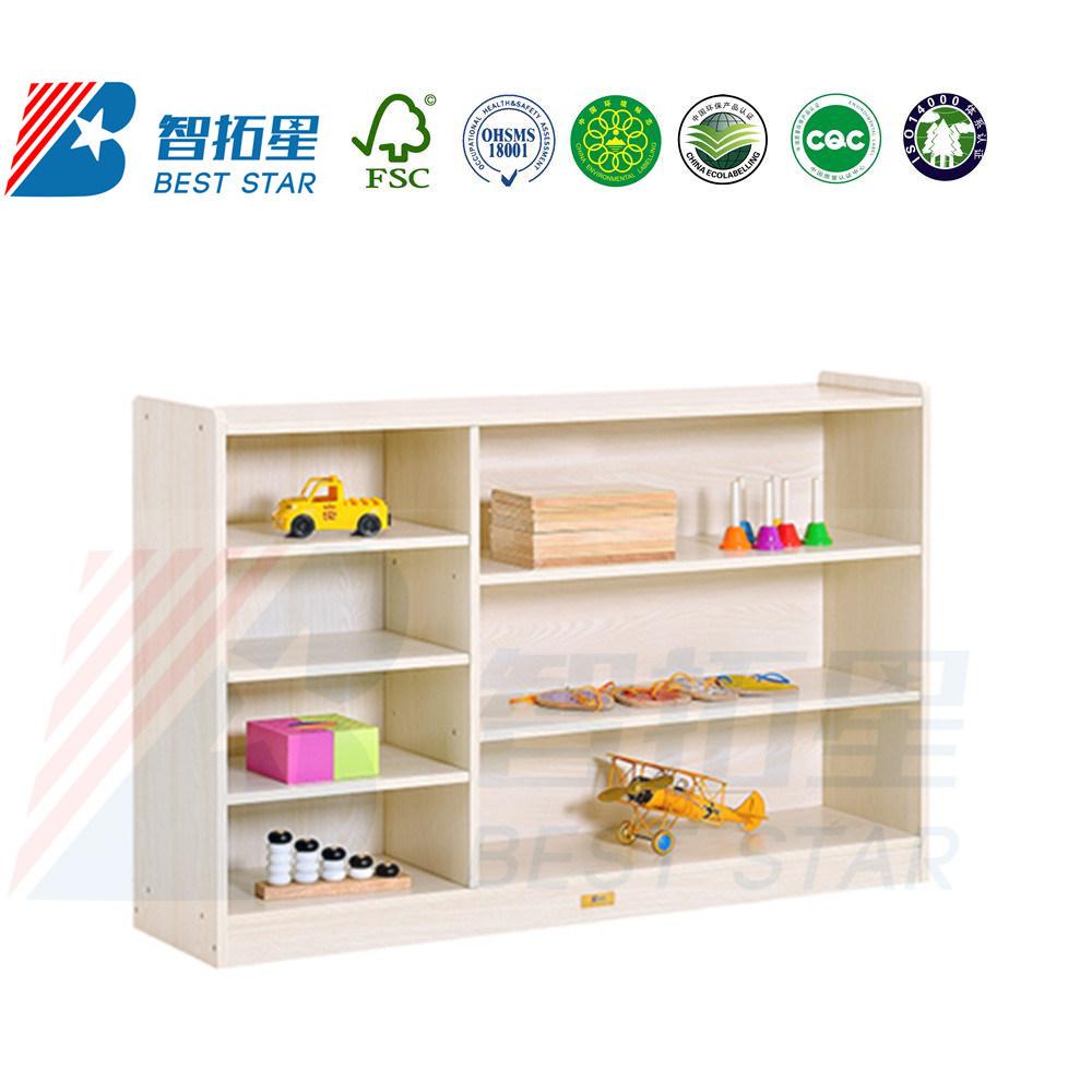 China Playroom Toy Display Cabinet Book Shelf Cabinet Wood Kids
