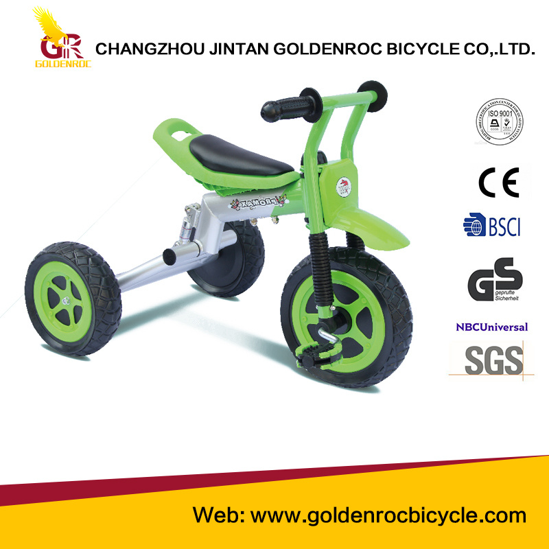 "(GL112-5) High Quality 10"" Shock Absorption Motor Type Children Tricycle"