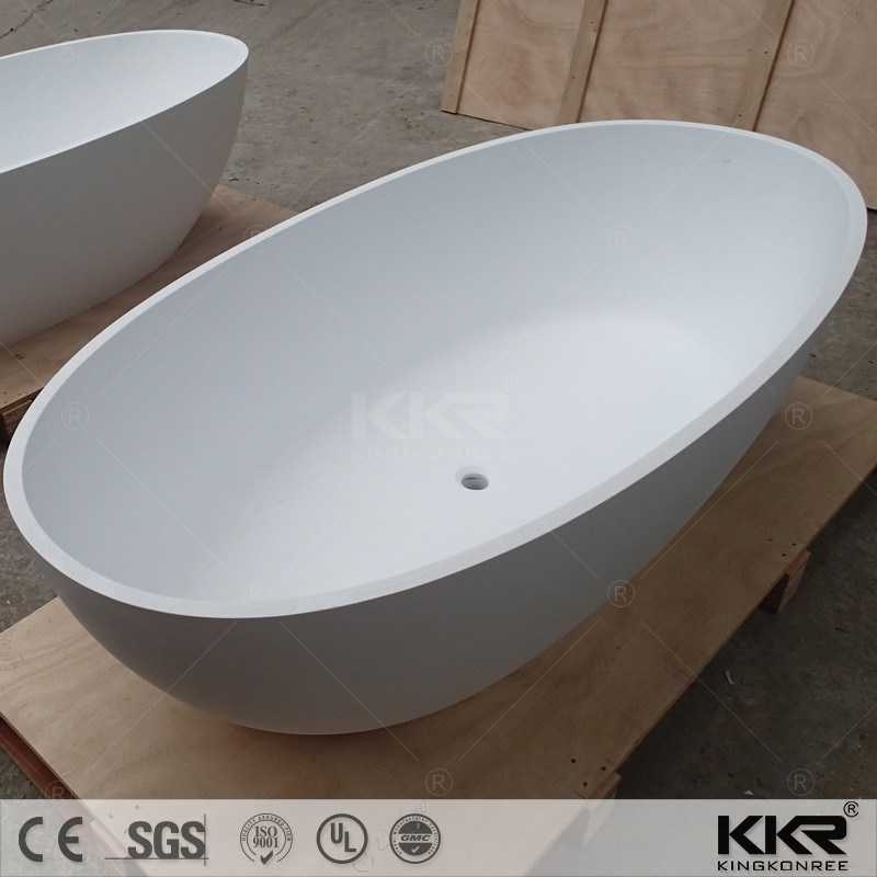 China 52 Inch Two Person Freestanding White Black Stone Solid ...