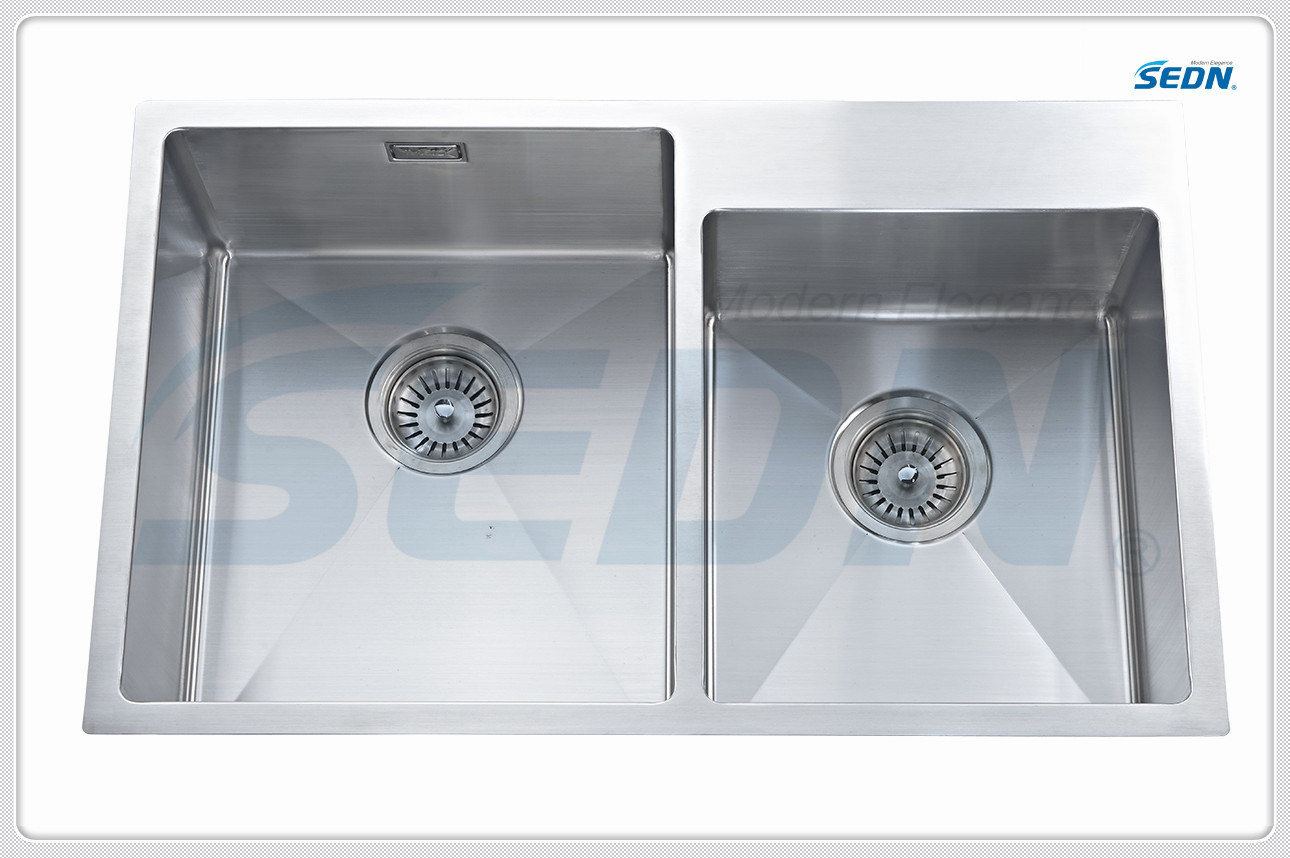 Handmade Double Bowl Stainless Steel Sinks (SB2009L)