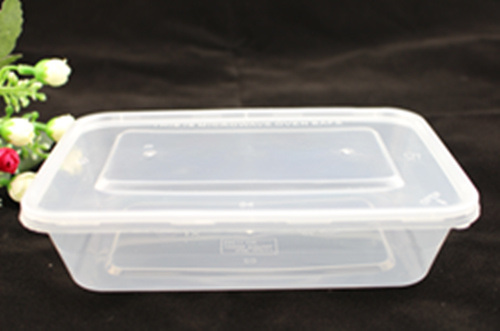 China Microwave Use PP Round Flat Plastic Containers for Factory