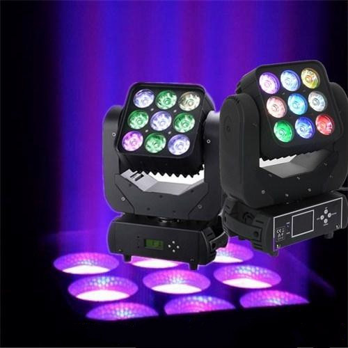 9PCS X 10W LED Matrix Moving Head Light For Stage Effect