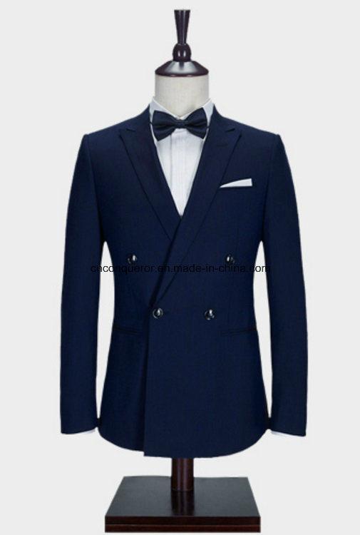 China Classic Blue Color Coat Pant Men Suit With Latest Design